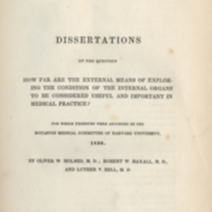 1836 Boylston Prize Dissertations