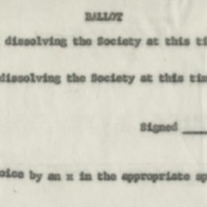 Ballot to dissolve the Massachusetts Homeopathic Medical Society