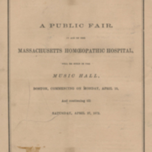 First annual report of the Massachusetts Homeopathic Hospital and of the Ladies' Aid Association