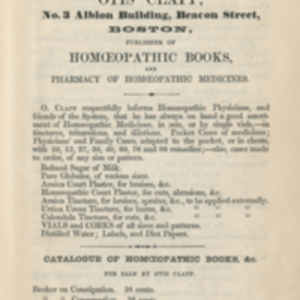 Catalogue of homoeopathic books