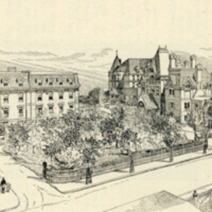 Boston University School of Medicine and the Massachusetts Homeopathic Hospital, circa 1892