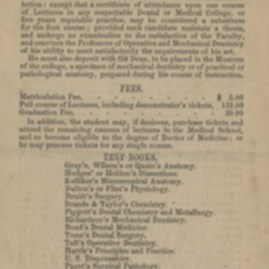 Announcement of the Dental School of Harvard University, Session 1868-69