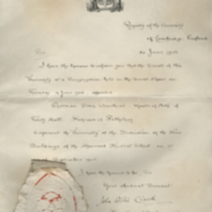 Appointment Certificate of German Sims Woodhead