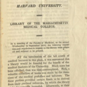 Library of the Massachusetts Medical College