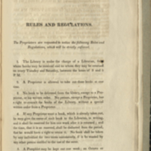Catalogue of Books in the Boston Medical Library; and the Rules and Regulations concerning the Same (1816)
