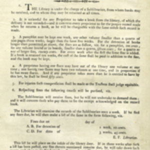 An Abstract of the Rules of the Boston Medical Library