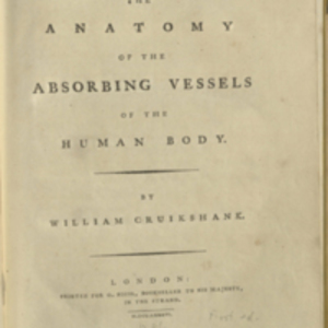 The Anatomy of the Absorbing Vessels of the Human Body