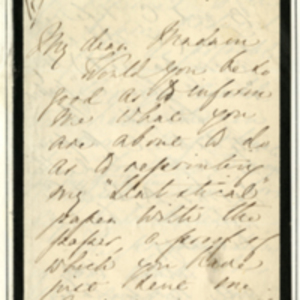 Letter from Florence Nightingale and transcript