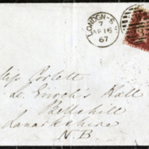 Envelope addressed to Miss Corlett by Florence Nightingale