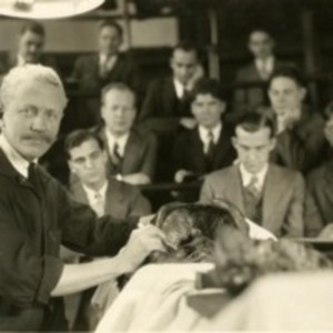 Robert M. Green performing an anatomical dissection