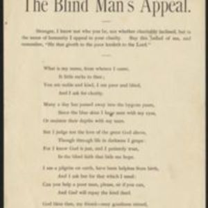 The blind man's appeal