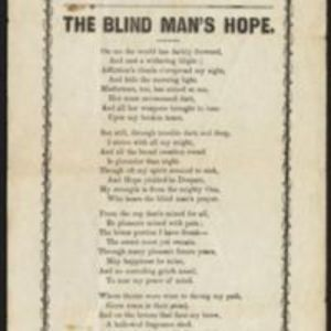 The blind man's hope