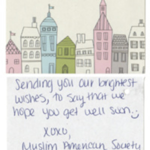 Card from Muslim American Society, San Antonio Chapter