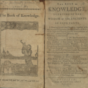 The book of knowledge, treating of the wisdom of the ancients in four parts