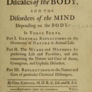 The natural method of cureing the diseases of the body, and the disorders of the mind depending on the body