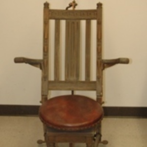 Adjustable wooden examination chair, 1893-1925