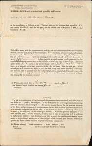 Housing agreement from William Ware