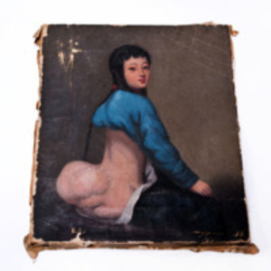 Lam Qua oil painting of girl with hip tumor, circa 1837