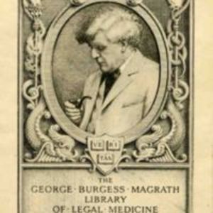 Bookplate of the George Burgess Magrath Library of Legal Medicine