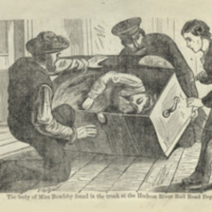 """""""The body of Miss Bowlsby found in the trunk at the Hudson River Rail Road Depot."""""""