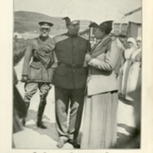 """The Commanding Officer and the Queen, Camiers, July 6, 1917"""