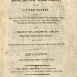 Title-page of A Portraiture of Domestic Slavery (1817)