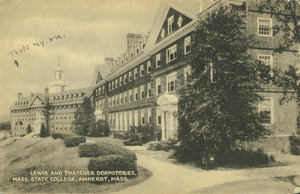 Lewis and Thatcher dormitories, Mass. State College, Amherst, Mass.