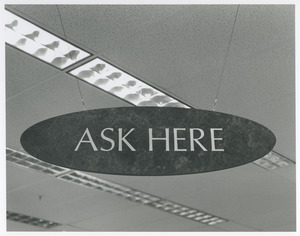 'Ask here' in library