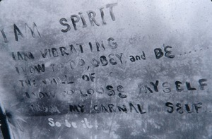 Spiritual Graffiti, Warwick main house: Such spontaneously inspired writings were common during the Warwick era