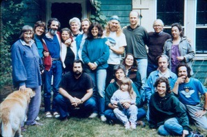 Gathering at Beth Hapgood's house in Greenfield
