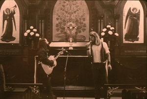 Concert at St. James Church, Greenfield: Robert Hincks and Michael Metelica. This church was one of the few local ones that was welcoming to the Brotherhood and hosted many events and weddings during this period