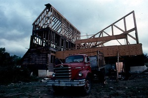 Beginning construction on Michael's planned house, 2001 Center