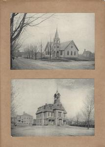 Plainville High School and the Plainville Methodist Church buildings.