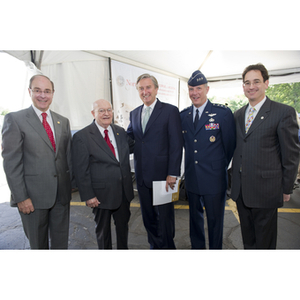 Special guests at the groundbreaking ceremony for the George J. Kostas Research Institute for Homeland Security