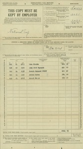 National Trap 1948 Employers Tax- Quarterly Return