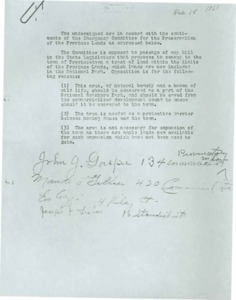 Statement of Support for EmergencyCommittee for the Preservation of the Provincelands