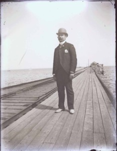 Man on Railroad Wharf