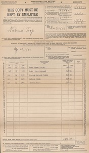 National Trap 1947 Quarterly Federal Tax Return