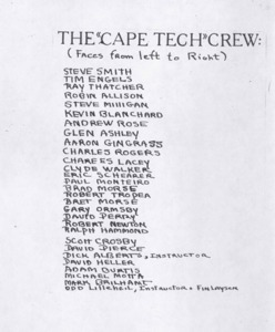 List of the CCRHS students who retored trapboat Charlotte