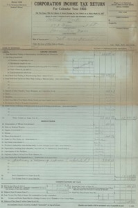 National Trap 1923 Corporate Income Tax Return