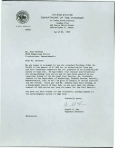 National Park Service Letter to Moffett