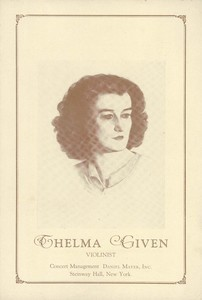 Thelma Given Concert Program
