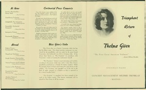 Thelma Given Promtional Brochure