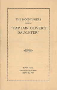 Playbill - The Mooncussers