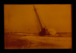 Two Masted Schooner in the Surf