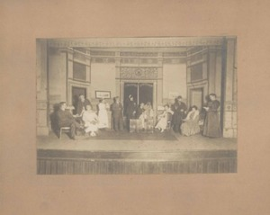 Photograph of Play Practice at Town Hall