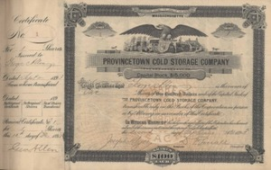 Business Records Provincetown Cold Storage