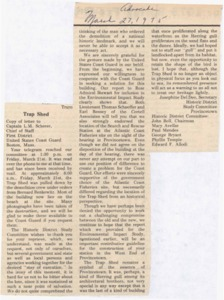 Letter from Historic District Study Committee to the Coast Guard