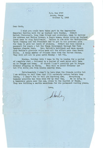 Letter from Shirley Graham Du Bois to Ruth Lazarus