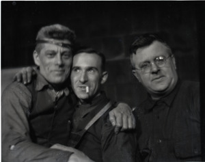 Joe Leveron and two other Herald men